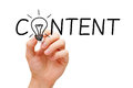 Content Light Bulb Concept Royalty Free Stock Photo