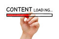 Content Loading Bar Concept Royalty Free Stock Photo