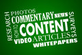 Content Marketing Articles Video Whitepapers Word Collage