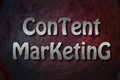 Content Marketing Concept Royalty Free Stock Photo