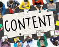 Content Social Media Networking Connection Concept Royalty Free Stock Photo
