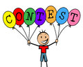 Contest Balloons Means Kids Challenge And Competitiveness Royalty Free Stock Photo