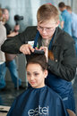 Contest young master moscow april unidentified orphan children age compete in hairdressing at the on april in moscow orphans were Stock Photography