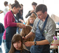 Contest young master moscow april unidentified orphan children age compete in hairdressing at the on april in moscow orphans were Stock Image
