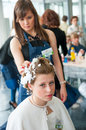 Contest young master moscow april unidentified orphan children age compete in hairdressing at the on april in moscow orphans were Royalty Free Stock Photos