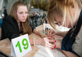 Contest young master moscow april unidentified orphan children age compete in manicure at the on april in moscow orphans were Stock Photo