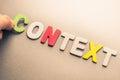 Context Royalty Free Stock Photo