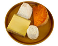 Continenal  cheese selection Stock Photo