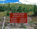 Continental Divide Sign Royalty Free Stock Photo