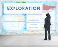 Continents Coordinates Exploration Geological Cartography Concep Royalty Free Stock Photo