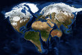 Continents of the earth in the shape of a heart Royalty Free Stock Photo