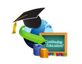 Continuing education concept illustration design over a white background Royalty Free Stock Image