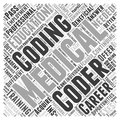 Are continuing education okay for medical coding career word cloud concept vector background
