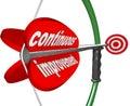Continuous Improvement Bow Arrow Constant Better Progress