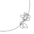 Continuous line drawing of Beautiful rose logo