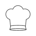 Contour of chefs hat small Royalty Free Stock Photo