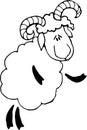 Contour lamb cartoon vector sheep Royalty Free Stock Photography
