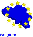 Contour map of Belgium Stock Photo