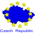Contour map of Czech Republic Royalty Free Stock Photo
