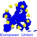 Contour map of European Union Royalty Free Stock Photo