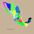 Contour map of Mexico