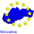 Contour map of Slovakia Royalty Free Stock Photos