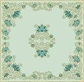 Contoured floral frame composition for scrapbook paper design batik cards decoupage Royalty Free Stock Photography