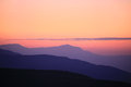 Contours of mountains at sunset Royalty Free Stock Photo