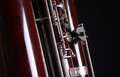 Contra bassoon love orchestra classical woodwind black Stock Image