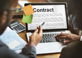 Contract Agreement Commitment Obligation Negotiation Concept Royalty Free Stock Photo