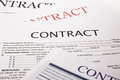 Contract form business concept and legal system Stock Photos