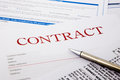 Contract form business concept and legal system Royalty Free Stock Photos