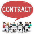 Contract legal occupation partnership deal concept Stock Image