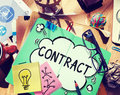 Contract Legal Occupation Partnership Deal Concept Royalty Free Stock Photo