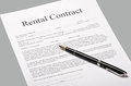 Contract rental Royalty Free Stock Image