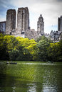 Contrast between city and nature central park new york Stock Photography