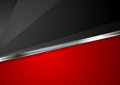 Contrast red and black background with metallic stripe