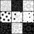 Contrasting pattern black and white seamless Royalty Free Stock Photo