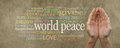 Contribute to World Peace Campaign Banner Royalty Free Stock Photo