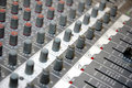Control board sound mixer Royalty Free Stock Photo