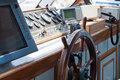 Control bridge and rudder on ship Royalty Free Stock Photo