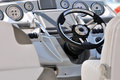 Control gage and steering wheel of yacht Royalty Free Stock Image