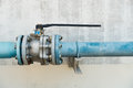Control main valve for distribution line. Royalty Free Stock Photo