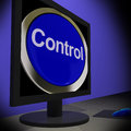 Control On Monitor Showing Operating Button Royalty Free Stock Photo