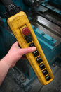 Control for Overhead Crane Royalty Free Stock Photo