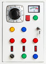 Control panel electrical switchgear cabinet Royalty Free Stock Image