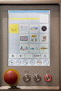 stock image of  Control panel in food industry machine