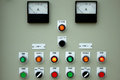 Control panel lights. Royalty Free Stock Photo