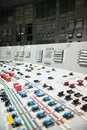 Control panel of the nuclear power plant Royalty Free Stock Photo