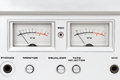 Control panel of old reel tape recorder Royalty Free Stock Photo